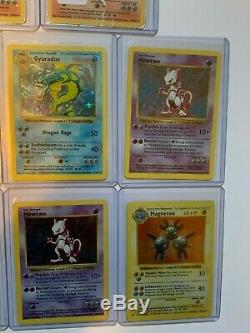 8 Shadowless 1999 Holo Rare Base Set Cartes Pokémon Incluant 2 Gardes