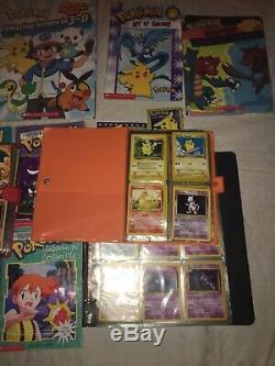 Ancienne Collection De Cartes Pokémon Rare Et Holo Binder Et Livres, 1ère Édition, Reliure Conservée