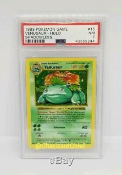 Base De Rare Mint Set Shadowless Venusaur Holo Psa Carte Pokemon Collection 15/102