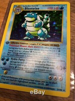 Blastoise 1ère Édition Shadowless 2/102 Set De Base Carte Pokémon, Condition Bon