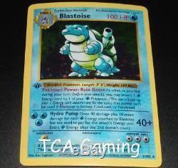 Blastoise 2/102 1er Édition Ensemble De Base Shadowless Holo Rare Carte Pokemon Excellent