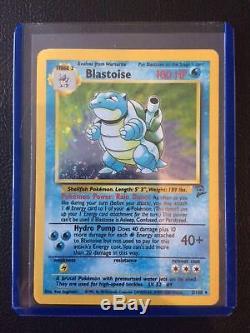 Blastoise 2/130 Rare Holo Base Set 2 Cartes Pokémon D'origine Mint Tcg 1st Go Xy