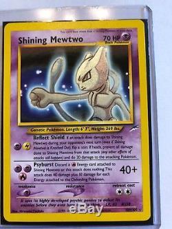 Brillant Mewtwo Pokémon Neo-destiny 109/105 Original 2002 Carte Rare