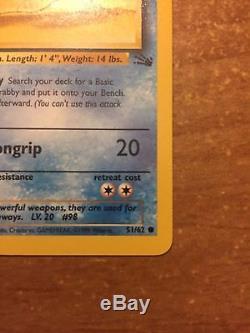 Carte À Collectionner Pokemon À Partir Des Années 1990 Krabby # 51/62 État Neuf! Rare