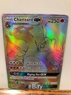 Carte Charizard Gx Hyper Rare Rainbow 150/147 Ombres Ardentes Pokemon Nintendo