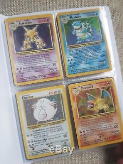 Carte Complète De Pokemon Dans Le Dossier Original Base Set 1999 1-102