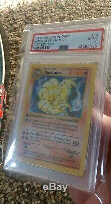 Carte Pokemon 1999 Feunard 1ère Édition De Base Shadowless # 12 Holo Menthe Psa 9 Rares