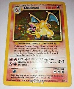 Carte Pokemon Charizard (4/102) Base Set Rare Holo Exc