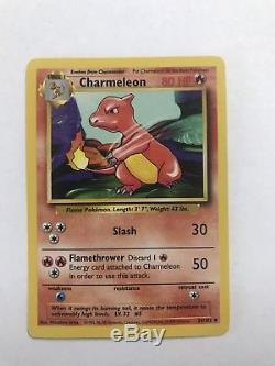 Carte Pokemon Charmeleon Rare Original Authentic 1995 1996 1997
