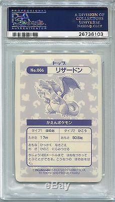 Carte Pokemon Japonaise 1995 Topsun Charizard Holofoil Dos Bleu, Psa 9 Menthe