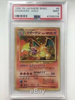 Carte Pokémon Japonaise Vieux Pocket Monsters Set De Base Holo Rare Charizard Psa 9