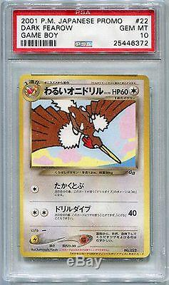Carte Pokémon Jeu Promo Japonais Boy Gb2 Dark Fearow, Psa 10 Gem Mint