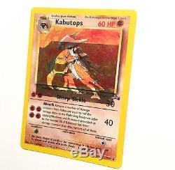 Carte Pokemon Kabutops Mal Aligné Holo Erreur / Erreur