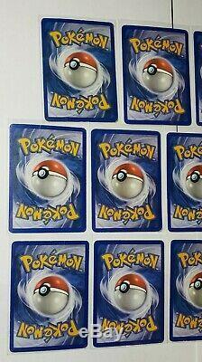 Carte Pokemon Lot Vintage Pokemon Ex Cartes Début Des Années 2000 Ultra Rare Set Carte Jouée