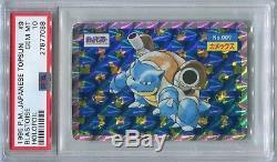 Carte Pokémon Promo Japonais 1995 Topsun Blastoise Holo Bleu Dos Psa 10 Gem Mint