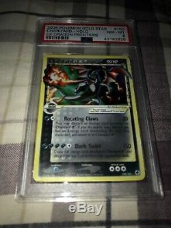 Carte Pokémon Psa 8 (100/101) Ex-frontière Du Dragon, Très Rare, Gold Star Charizard