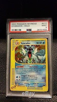 Carte Pokémon Psa 9 Ment Skyridge Rare Holo Gyarados H10 / H32
