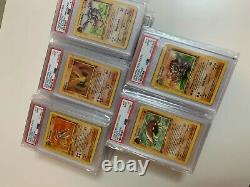Carte Pokemon Psa Graded 1ère Édition Shadowless Complète Fossil Set 62 Pleine Rare
