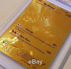 Carte Pokémon Rare Reshiram Gold (mt) Psa 9