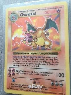 Carte Pokémon Shadowless Holo Rare Première Génération Charizard 4/102 Mint 1999