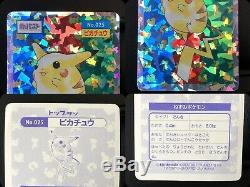 Carte Pokemon Topsun 150/150 Complete Set + Mewtwo Pikachu Holo Foil Very Rare