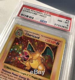 Carte Psa 8 Nm / Mt Holo Rare De Pokemon Shadowless