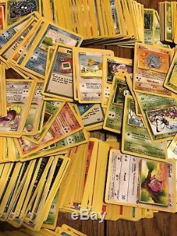 Carte Vintage Pokemon Lot 3800 Cartes Holo Rares Collection De 1995 À 2012