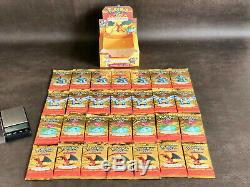 Cartes De Base D'expédition Rare Pokemon 28 Boites De Boosters Et Box Charizard 2002 Sealed