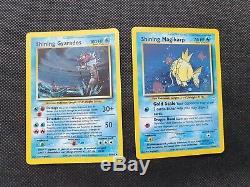 Cartes De Gyarados Et De Cartes Magikarp Brillantes Pokemon Neo Ultra