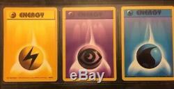 Cartes De Pokémon Complet Base Set No Charizard Vintage 101/102 Holographic Rares