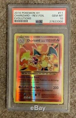 Cartes Pokemon 2016 Xy Evolutions, Charizard Reverse Foil Holo, Psa 10 (rare!)