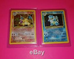 Cartes Pokémon Charizard & Blastoise Cartes Originales Du Jeu De Base Holos Rare