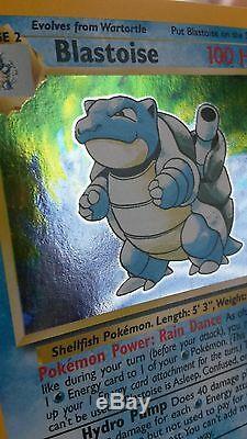 Cartes Pokemon De Base Rare Holo (blastoise, Alakazam, Charizard, Venusaur Etc.)