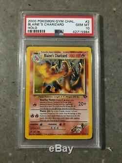 Cartes Pokemon Tcg Blaine's Charizard 2/132 Gym Challenge Holo Rare Psa 10 Gem Mt