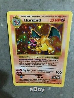 Cartes Pokemon Tcg Shadowless Charizard 4/102 Ensemble De Base Holo Rare