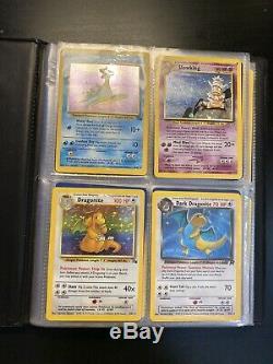 Cartes Pokémon (les Holos Rares, 1ère Édition) + Vintage Bleu Pokemon Binder