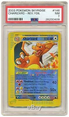 Charizard 146/144 Psa Nm 7 Rare Holo Inverse (skyridge) Carte Pokémon