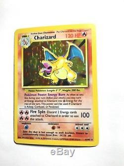 Charizard 4/102 Ensemble De Base Holo Bleed Error Très Rare Carte Pokemon Nm