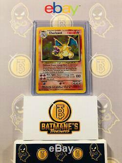 Charizard 4/102 Lp / Nm Near Mint De Base Rare Holo Carte Pokemon