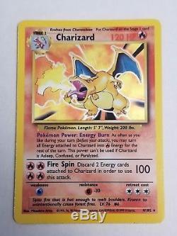 Charizard, Blastoise, Et Base Holographique De Vénusaur Set Pokemon Card Lot! Rare