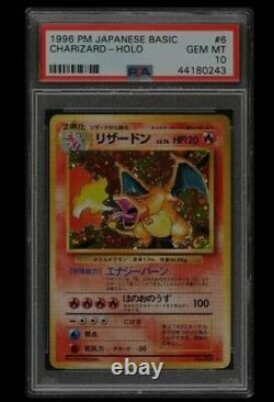 Charizard De Base Psa 10 Japonais 1996 Holo Carte Pokémon