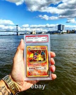 Charizard De Base Psa 10 Japonais 1996 (l'original Zard!) Carte Pokemon Rare