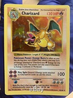 Charizard De Base Shadowless 4/102 Rare Lp Holo Carte Pokemon