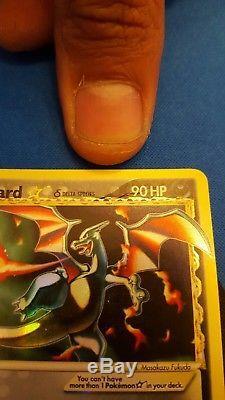 Charizard Gold Star 100/101 Carte Ultra Rare De Pokémon Ultra Jouée De Légère