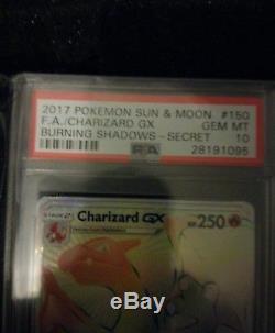 Charizard Gx 150/147 Carte Pokémon Art Rare Hyper Rare Psa Gem Mint 10