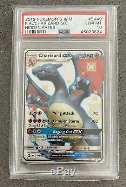 Charizard Gx Sv49 / Sv94 Caché Parques Psa 10 Gem Mint Holo Rare Carte Pokemon