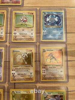 Charizard Holo Pokemon Unlimited Base + 12 Card Lot 1ère Édition Cartes Rare 1999