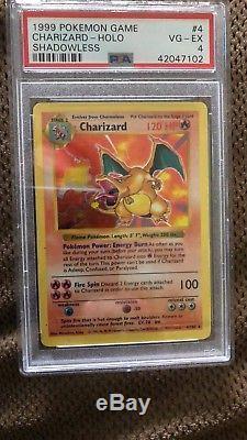 Charizard Holo Rare 1999 Wotc Pokemon Card 4/102 Ensemble De Base Psa 4