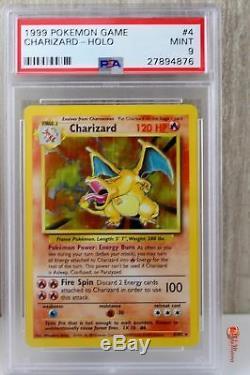 Charizard Holo Rare 1999 Wotc Pokemon Card 4/102 Ensemble De Base Psa 9 Mint Read