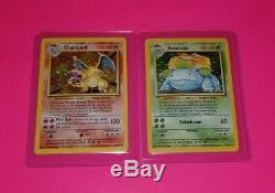 Charizard & Venusaur Pokemon Cartes Rare Holos Original Base Set / 102